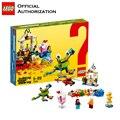 Lego Классическая серия 295 шт Строительные блоки детские игрушки Обучающие блоки строительные игрушки 60-летие издание Brinquedos
