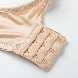 Image 5 - Для женщин полный охват бюстгальтер на «косточках» бесшовный слегка ОБИТАЯ Базовая футболка бюстгальтер размера плюс