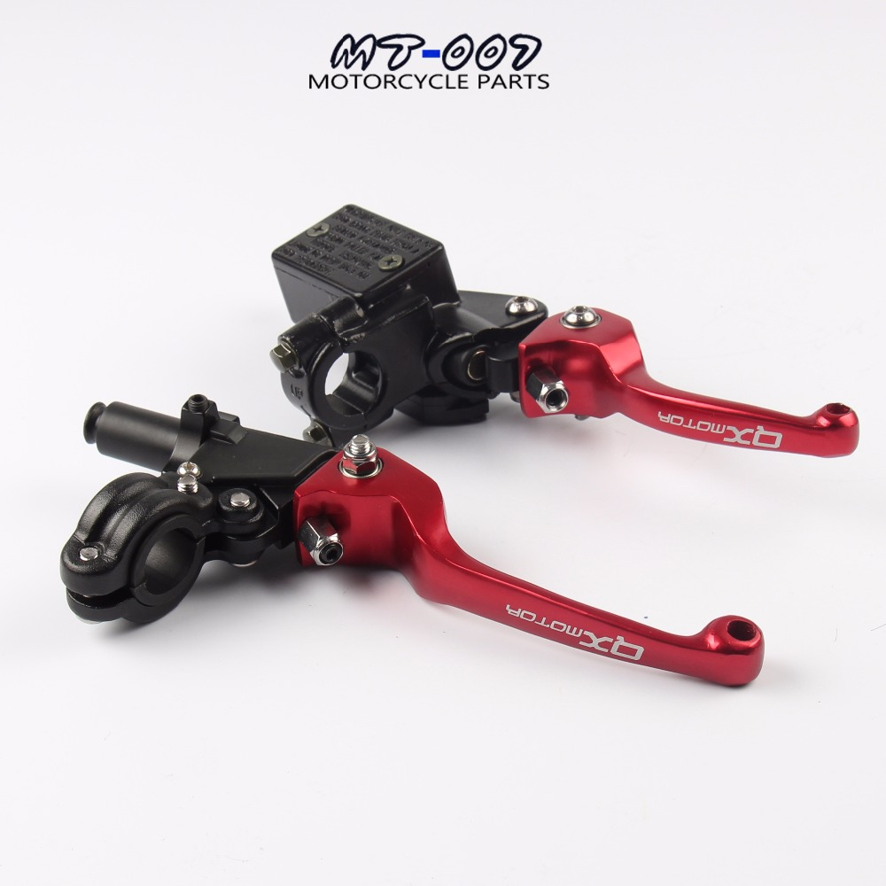 CNC QXmotor Logo folding brake lever clutch Lever with front pump For Most Motorcycle Dirt Pit Bike Motorcross CRF KLX YZF RMZ цены