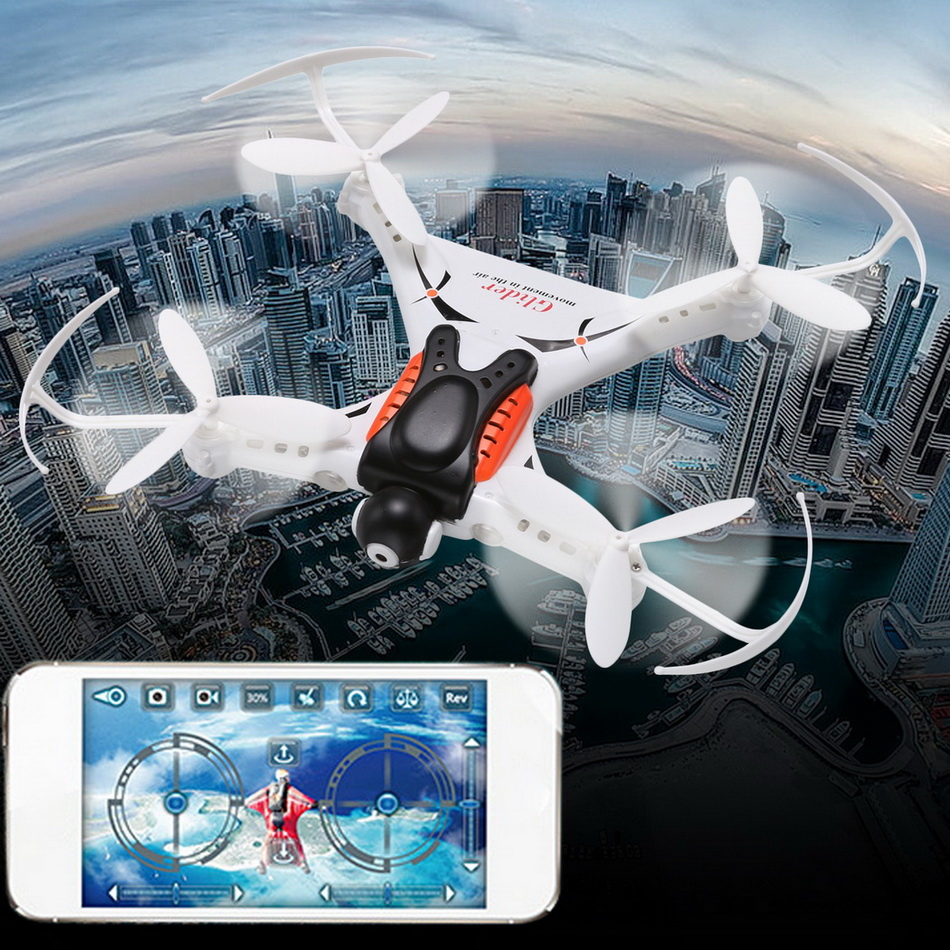 High intelligence Cheerson rc drone mobile ipad control 2.4G 4CH 6 Axis Gyro Mini RC Quadcopter with WIFI 2MP Camera vs JJRC H6W juncheng 3015 2 mini drone 3d flip fly 6 axis gyro 2 4g 4ch rc quadcopter