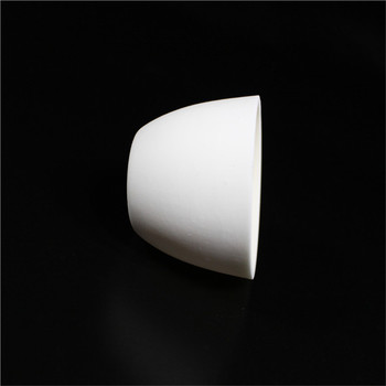 99.3% alumina crucible / 25ml / with lids / Arc-Shaped / corundum crucible / Al2O3 ceramic crucible / Sintered crucible