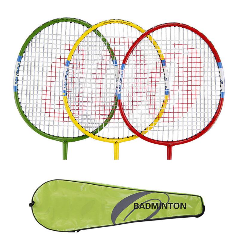 1Pair Universal Carbon Aluminum Alloy Badminton Racket Racquet With Carry Bag