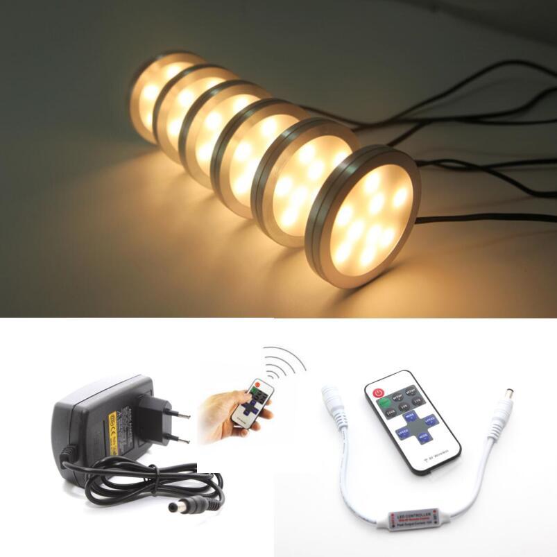 Kitchen Under Cabinet Counter Led Lighting Free Shipping: Free Shipping 6pcs/set Dimmable Under Cabinet Lamps LED