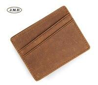 J.M.D High Quality Genuine Leather Fashion Style Mens Card Holder Money Holder ID Holder Card Holder Coin Pocket R 8101R