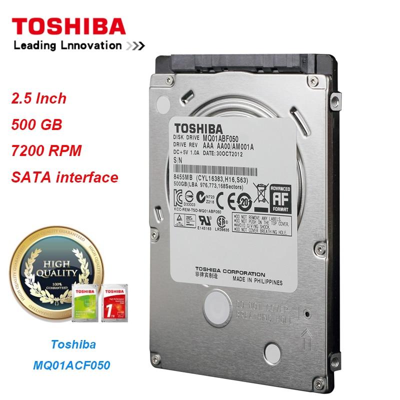 "Original Toshiba MQ01ABF050 500GB Hard Drive Disk SATA/300 7200RPM 16MB 2.5"" Internal Hard Drive for Laptop"