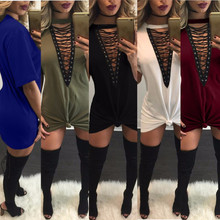 v-neck bodycon plus size vestidos