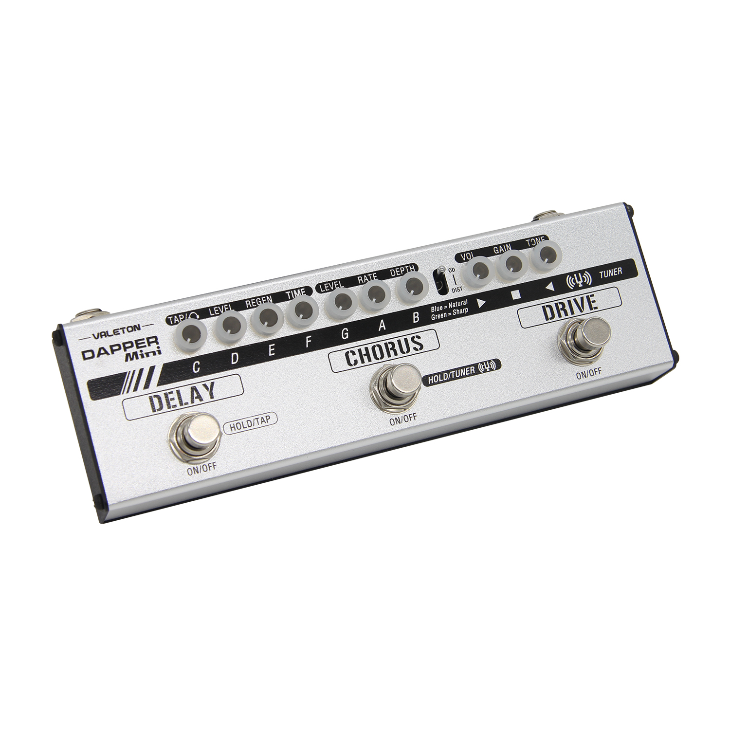 Valeton Dapper Mini Guitar Effect Pedal Tuner Drive Chorus Delay Phones All In One Effects Strip
