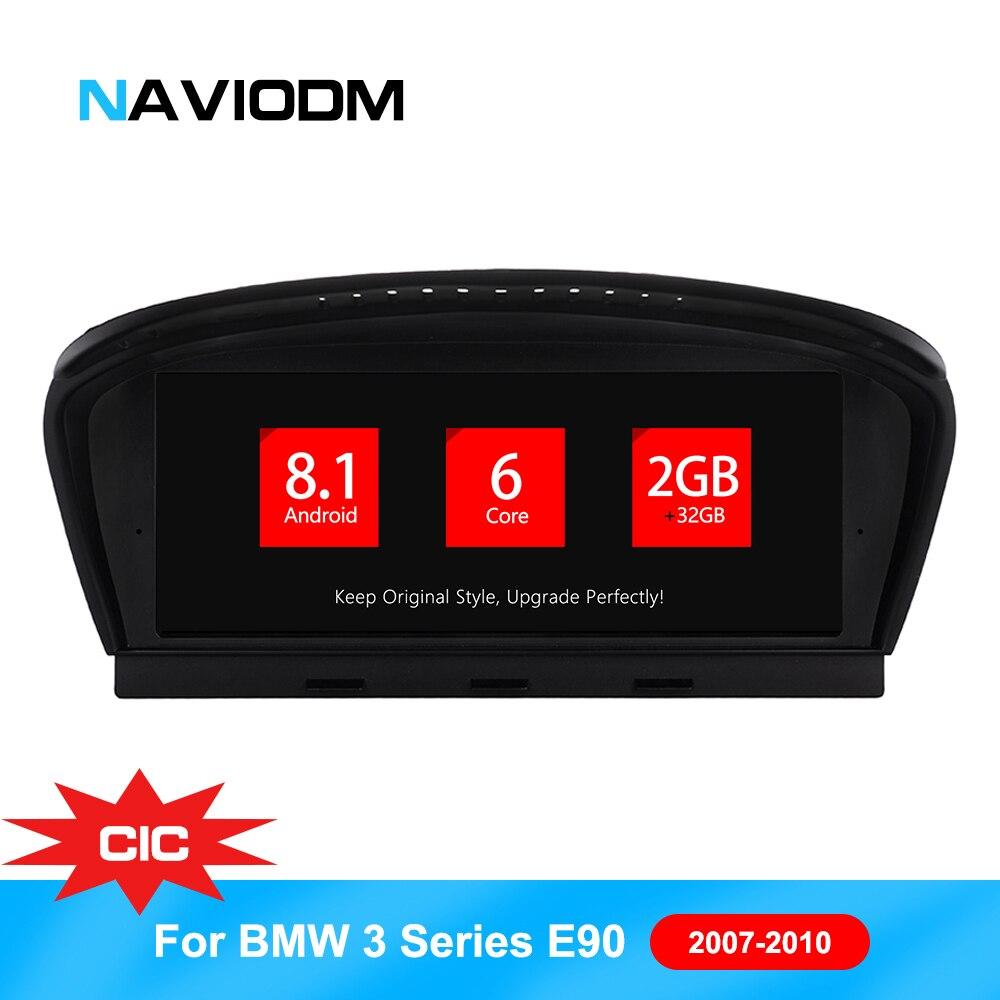 8.8 pouces Android 8.1 PX6 6 core Lecteur DVD de Voiture Pour BMW Série 5 E60 E61 E60 CIC CCC Système Lecteur Multimédia De Voiture GPS auto Radio