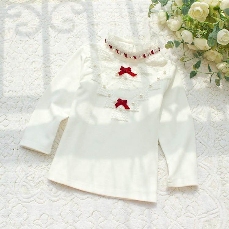 HTB1MJEZLXXXXXbtXpXXq6xXFXXXA - 2017 Autumn Girls Turtleneck T-Shirt Cotton Children White Pink Shirts Baby Girls Clothing Long Sleeve Bottom Tops For Kids