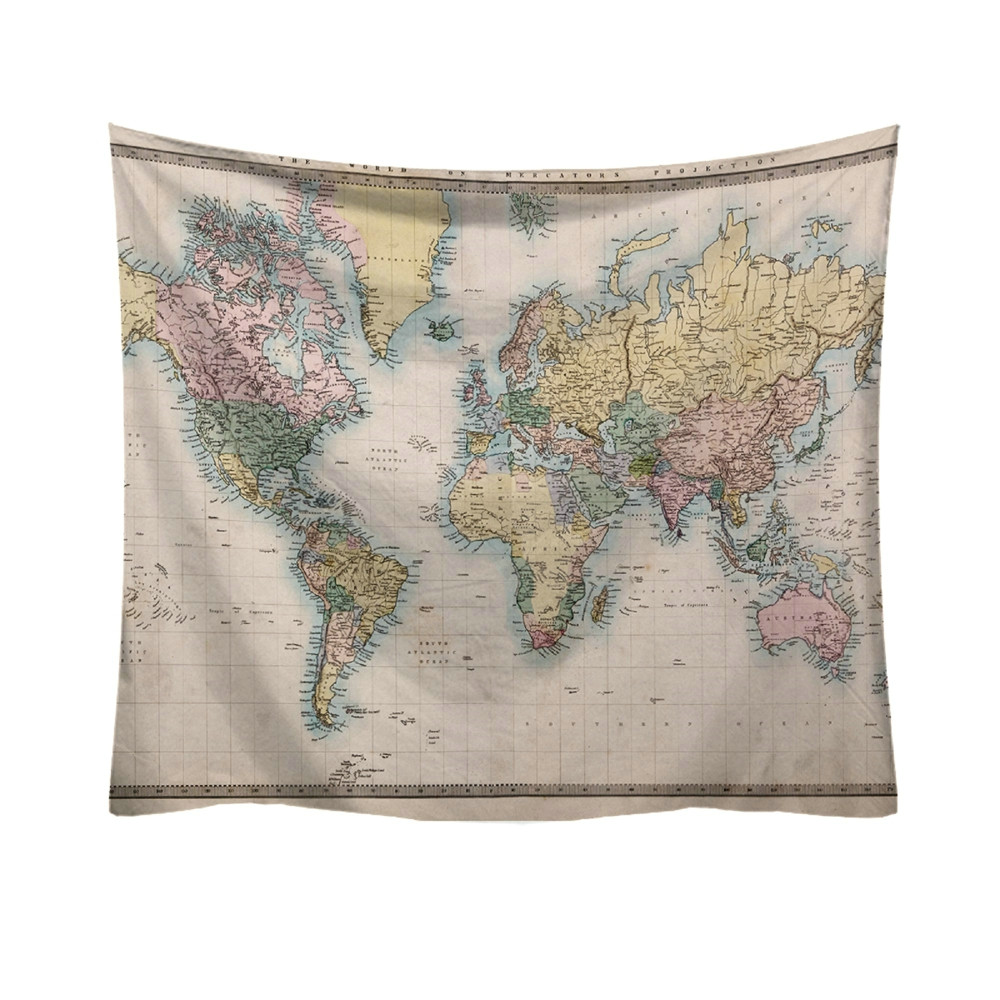 World Map Pattern Tapestry Ancient Living Room Egyptian Style Wall Hanging Mat Blanket Home Decor Tapestry 50%#World Map Pattern Tapestry Ancient Living Room Egyptian Style Wall Hanging Mat Blanket Home Decor Tapestry 50%#