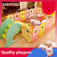2018 < 3 Years Old Real Cercadinho Baby Playpen Fence Fencing For Children Child Game Crawling Security Toddler Ball Pool Toy