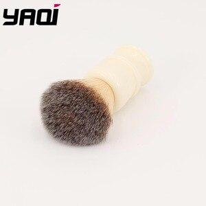 Image 4 - Yaqi 22 MILLIMETRI Capelli Sintetici Manico In Resina Bianco Latteo Pennelli Da Barba degli uomini
