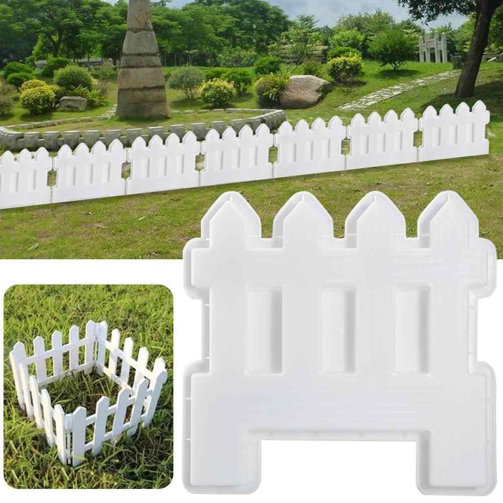 Небольшой забор пластиковые формы сад бассейн кирпич пластиковые формы газон двор ремесло украшения забор бетонные формы