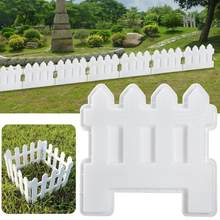 Small Fence Plastic Mold Garden Pool Brick Plastic Mould Lawn Yard Craft Decoration Fence Concrete Molds(China)