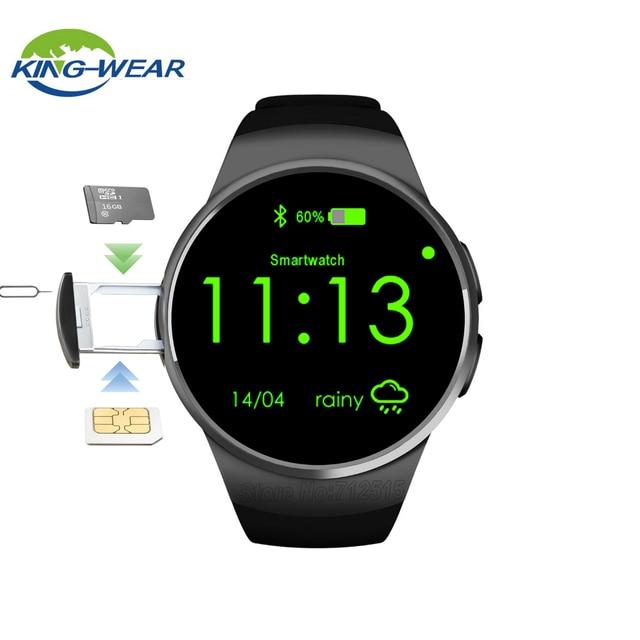 7af00af4a07 Kingwear KW18 smartWatch Relógio Inteligente Monitor de Freqüência Cardíaca  Do Bluetooth Inteligente SIM Suporte o Cartão