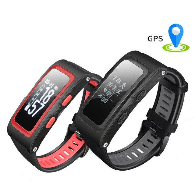 Sport Smart Watch Heart Rate GPS PPG OLED Waterproof Track Record Bracelet Bluetooth Multiple Heart Rate Monitor Smart Bracelet