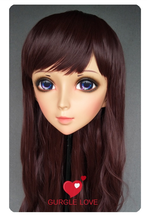 Costumes & Accessories dm160 Lovely Sweet Girl Resin Half Head Kigurumi Mask With Bjd Eyes Cosplay Japanese Anime Role Lolita Mask Crossdress Doll