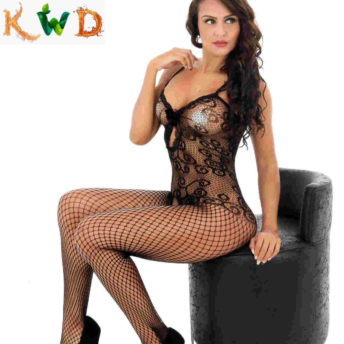 KWD Plus Size <font><b>Sexy</b></font> <font><b>Lingerie</b></font> Underwear Porn Babydoll Hot Fishnet Open Crotch Exotic <font><b>Lingerie</b></font> <font><b>Sexy</b></font> Costumes Sex Products image