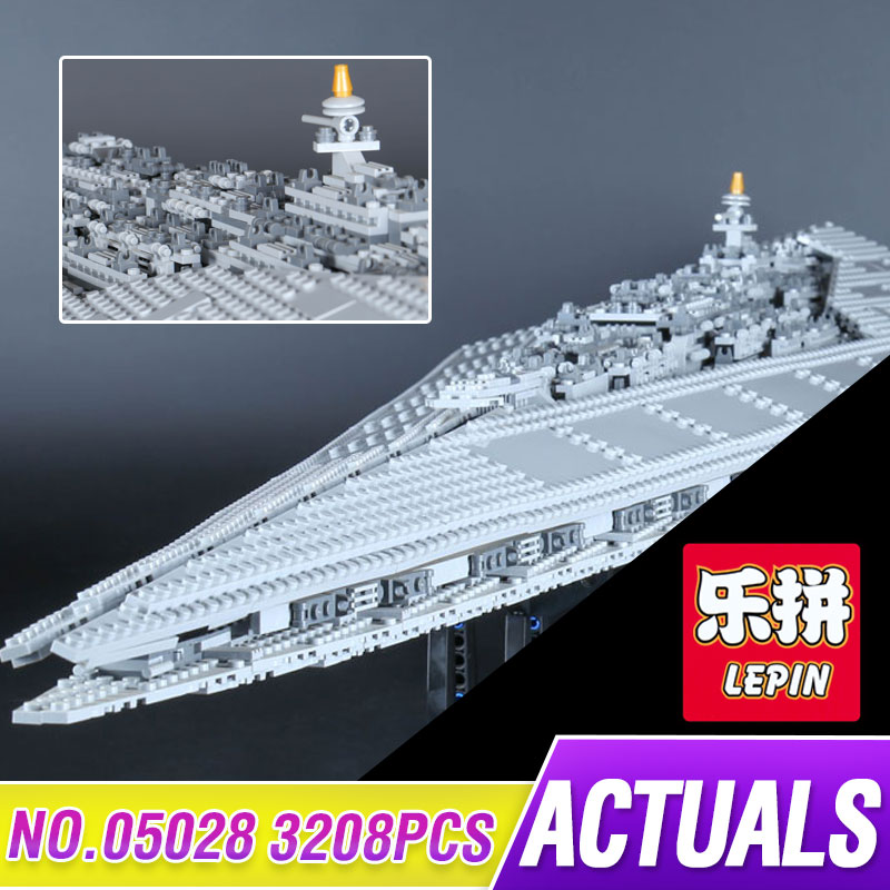 LEPIN 05028 3208pcs Star Kit Wars Executor Super Star Destroyer Model Building Block Brick Toy Compatible 10221 Educational Gift 05028 star wars execytor super star destroyer model building kit mini block brick toy gift compatible 75055 tos lepin