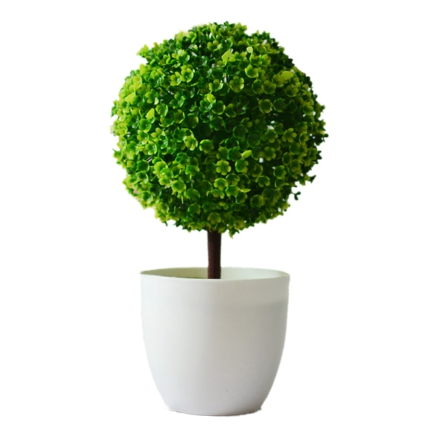 Aliexpress Buy Artificial Plants Ball Bonsai Can Washes