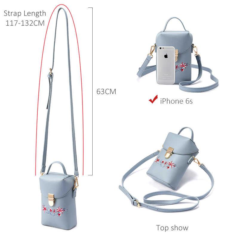 Женская сумка с коротими ручками из полиэстера Lovevook, маленькая сумка через плечо для мобильной телефона с крючкой и задним карманом, розовая сумка с вышитыми цветами для лета, 2019