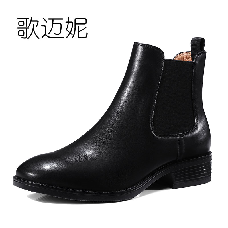 womens winter leather ankle boots women boot bota feminina botas mujer botines mujer 2017 ladies punk chelsea boots laarzen ladies embroidered boots womens ankle boots for women winter boots black boot botas mujer bottine botte femme laarzen botines