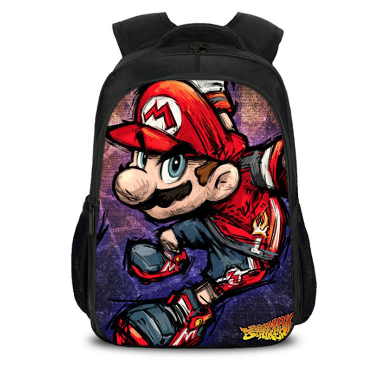 New Arrival Realistic Mario Backpack For Teens Back To School Bags Boys Girls Mario Bros Birthday Bag Super Mario Mochilas