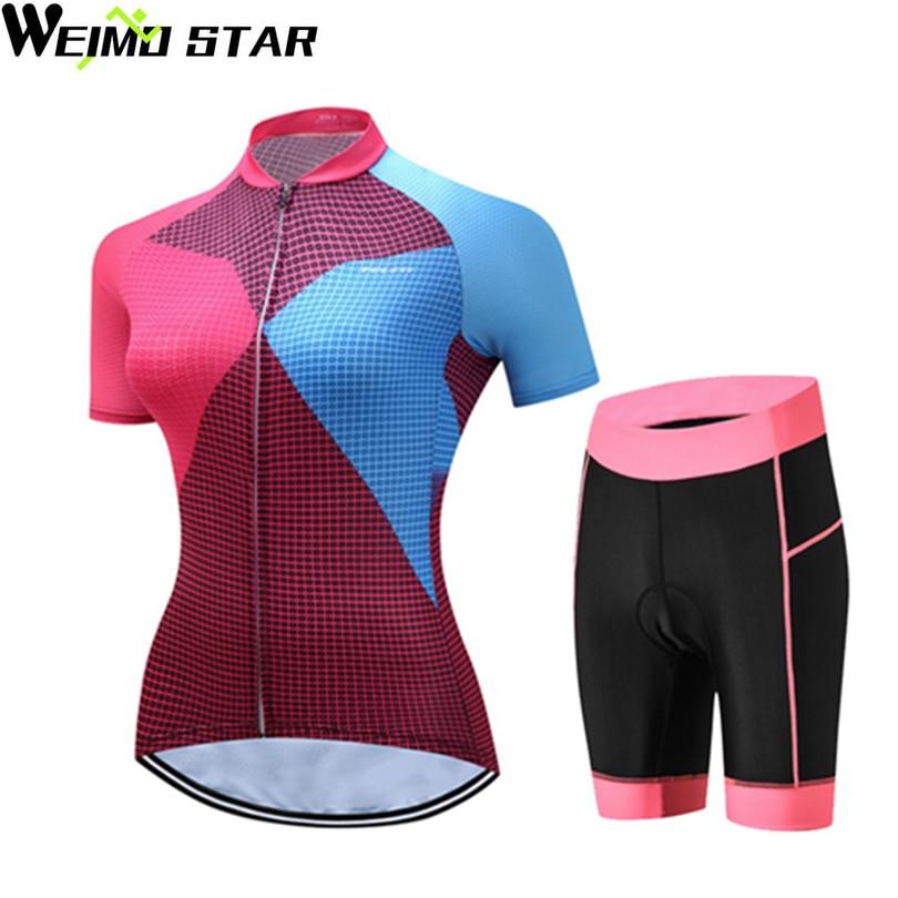 WEIMOSTAR Team PRO <font><b>Women</b></font> MTB Cycling <font><b>Jersey</b></font> Shorts Bike Short Sleeve Shirts Bicycle Sportswear Bike Ropa Ciclismo Cycle Clothing