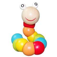 shilly magical colorful insects twist wooden children kids baby fingers flexible training science educational puzzle cute toys