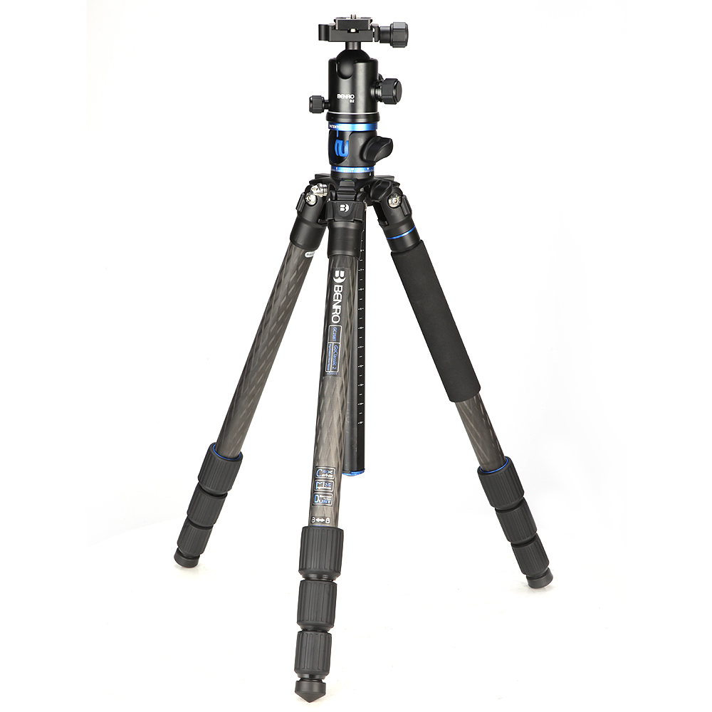 Benro GC268TB2 Tripod Carbon Fiber Monopod Tripods For Camera With B2 Ballhead 4 Section Max Loading 16kg DHL Free Shipping dhl gopro benro c3580t classic series carbon fiber tripod professional slr tripod max load 18 kg wholesale