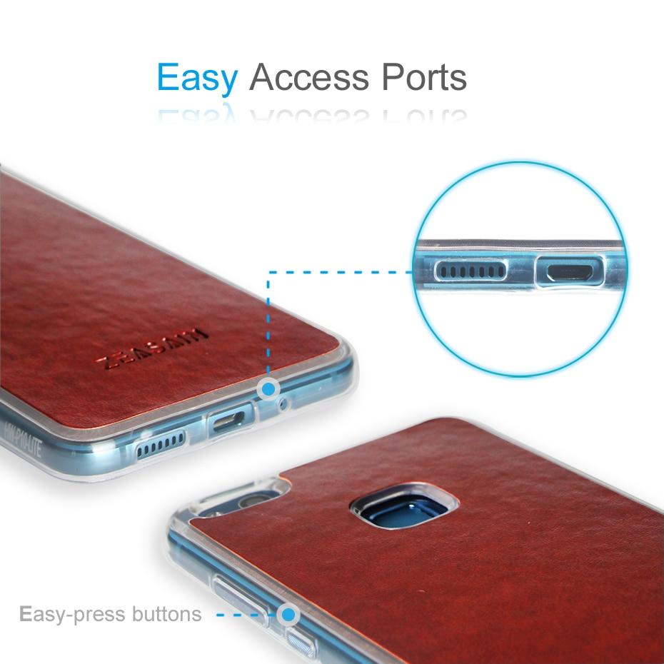 Asli ZEASAIN Mewah Lembut PU Kulit Batal TPU Tutup Kasus untuk Huawei - Aksesori dan suku cadang ponsel - Foto 4