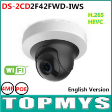WIFI 4MP WDR Mini PT Network Camera DS-2CD2F42FWD-IWS1080P POE IP Camera  Bulid-in SD card Slot Support H.264+ support ONVIF