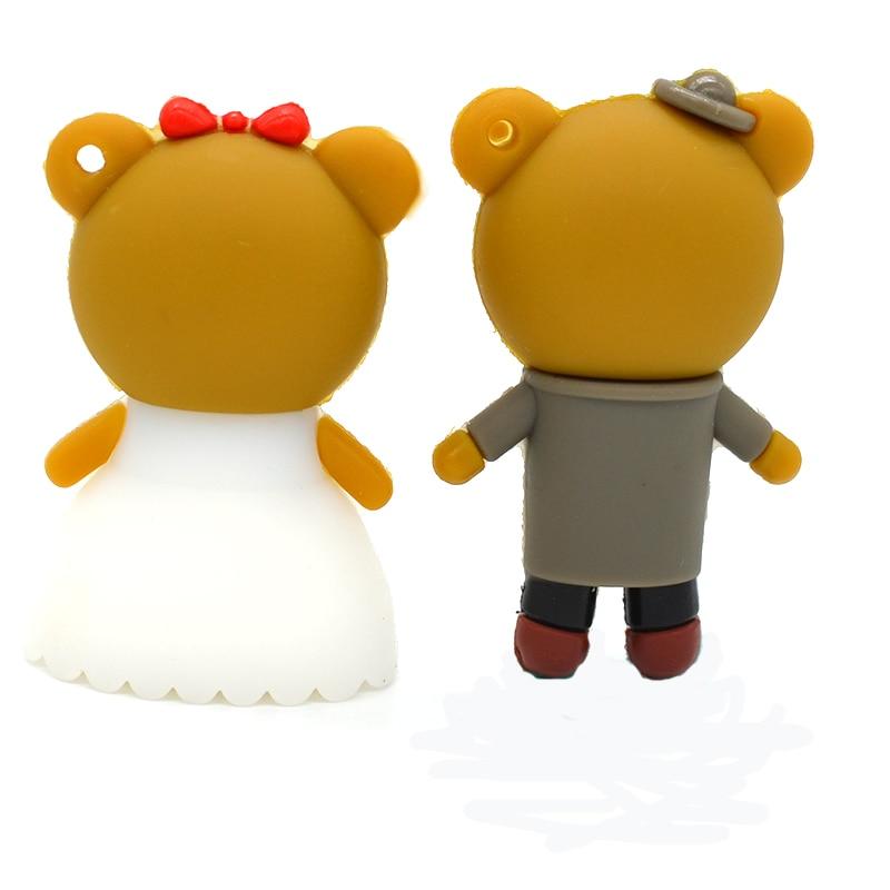 pendrive 뜨거운 만화 Rilakkuma 곰 결혼 웨딩 펜 - 외부 저장 - 사진 3