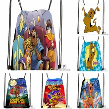 Custom Scooby Doo Team Up Drawstring Backpack Bag Cute Daypack Kids Satchel (Black Back) 31x40cm#180531-04-51