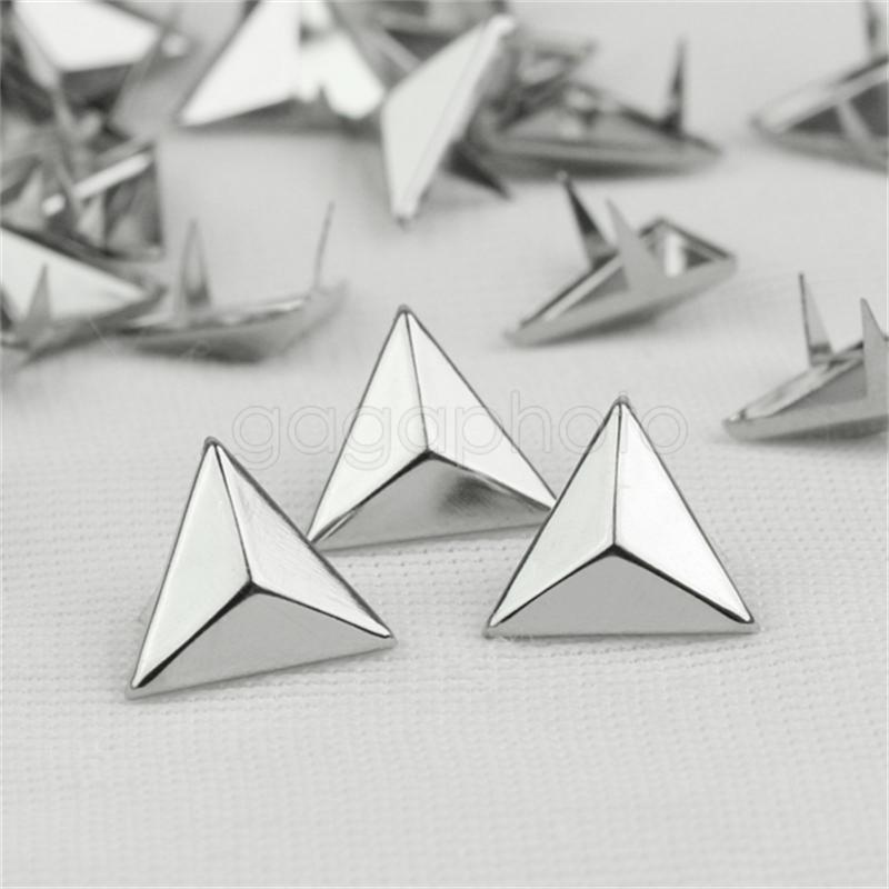 100 Pcs Silver Sewing Spike Rivet Studs Punk Rock For Leathercraft Decoration