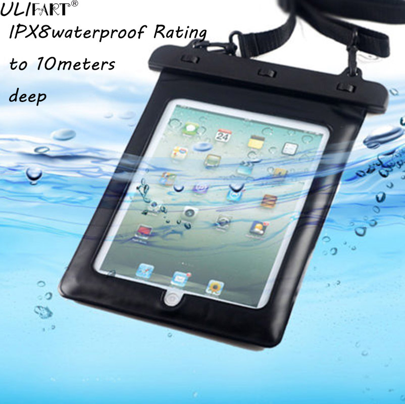 ULIFART Universal Tablet Waterproof Case For 9.7Inch Ipad Pro iPad2/3/4 Air2 Protection Bag Tablet IPad Dry Bag Underwater Pouch