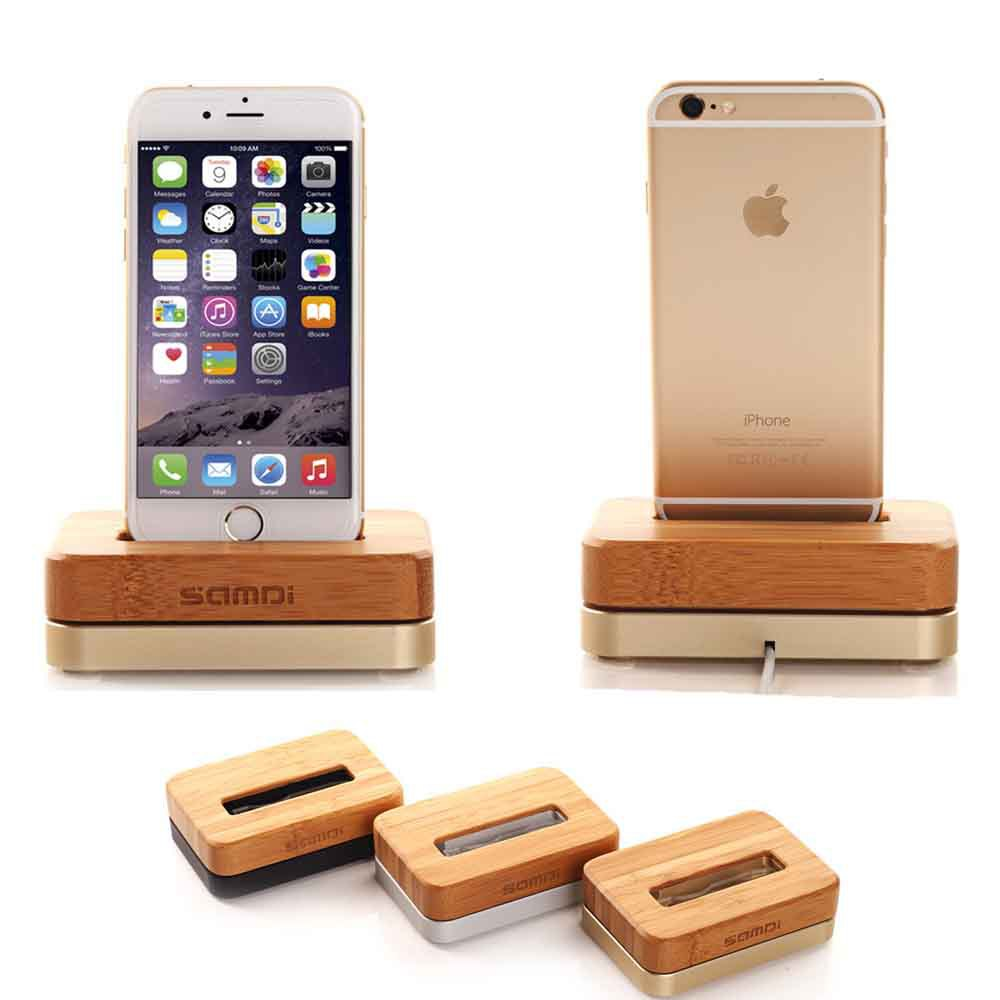 buy 2016 new wooden birch vertical desktop dock for apple iphone se 5 5s 6 6s 7. Black Bedroom Furniture Sets. Home Design Ideas