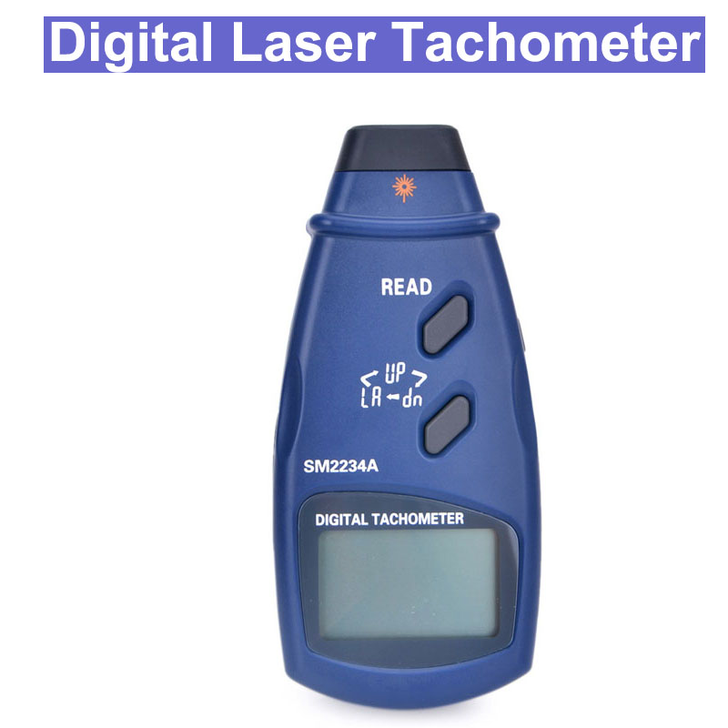 SM2234A Digital Laser Photo Tachometer LCD Display Auto Range Non Contact Rpm Meter Tool Speed Measuring Instruments     - title=