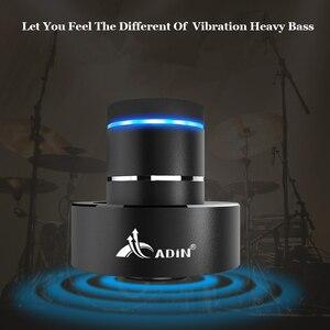 Image 2 - Adin 金属 26 10w 振動 bluetooth スピーカー nfc タッチハイファイサブウーファーワイヤレススピーカー 360 ステレオ超低音スピーカー