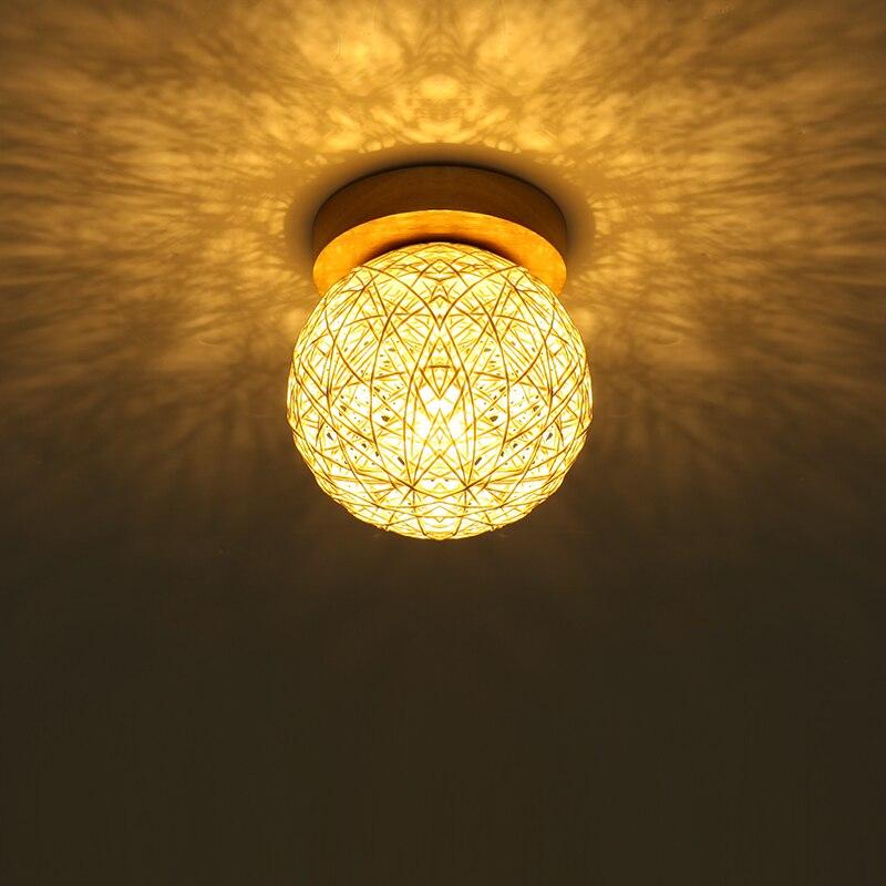 Led Ceiling Light Globe: Indoor Wood Led Ceiling Lamp Ball Red/White/Blue Globe Led