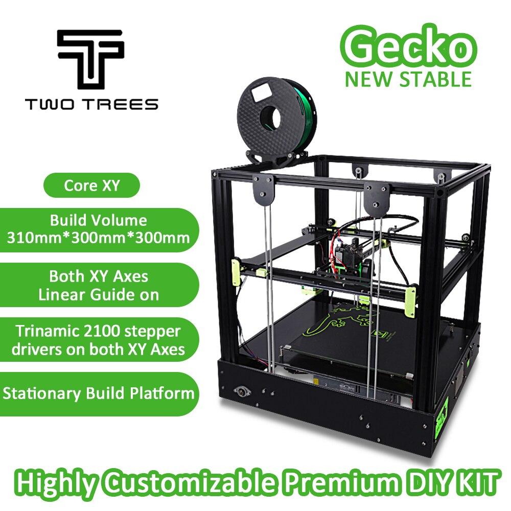 2018 3D Imprimante Gecko Grand Écran Zone D'impression CoreXY Système en aluminium structure Haute-précision avec chaleur lit grand Titan extrudeuse