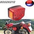 Красные задние габаритные огни мотоцикла светодиодные номерные знаки задние стоп-сигналы для Минска 125 cc Carpathians 50cc