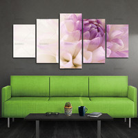 BANMU Oil Painting Purple Flowers Wall Art Picture Modular Pictures Canvas Print Wall Pictures Living Room