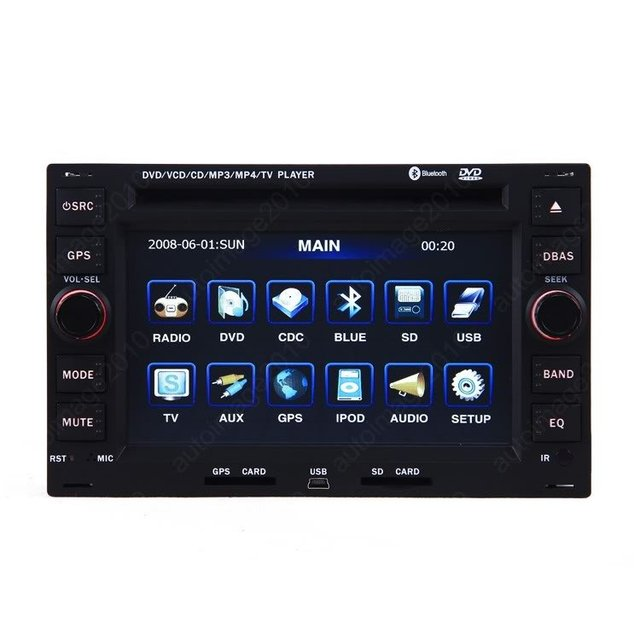 1996-2008 SEAT ALHAMBRA Special Car GPS Navigation Custom Media Audio DVD Player with Bluetooth iPod RDS TV USB SD AUX-IN
