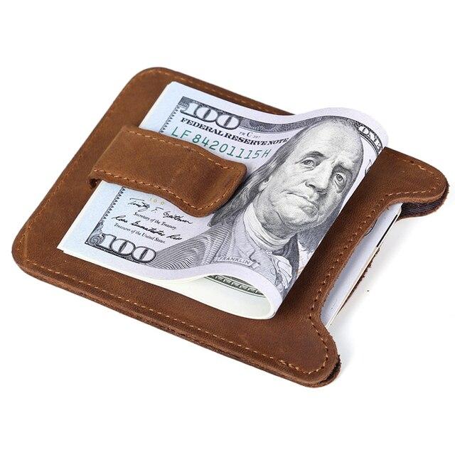 Tiding hombres de cuero reales de tarjeta del clip del dinero mujeres venta al por mayor marca de diseñador del monedero 4065