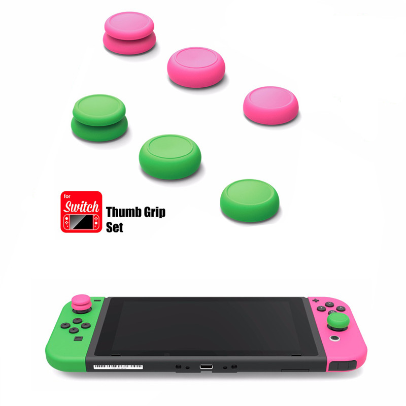 10set Skull & Co FPS Master CQC Elite Set Silicone Joystick Thumbstick Cap Cover for Switch Joy-Con Controller Thumb Grip Set