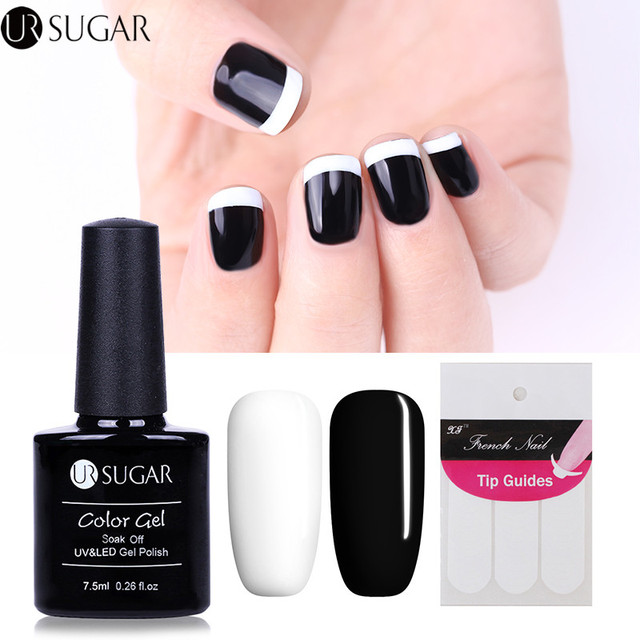 UR SUGAR 3Pcs 7.5ml White and Pink Nail Gel Polish & French Manicure ...