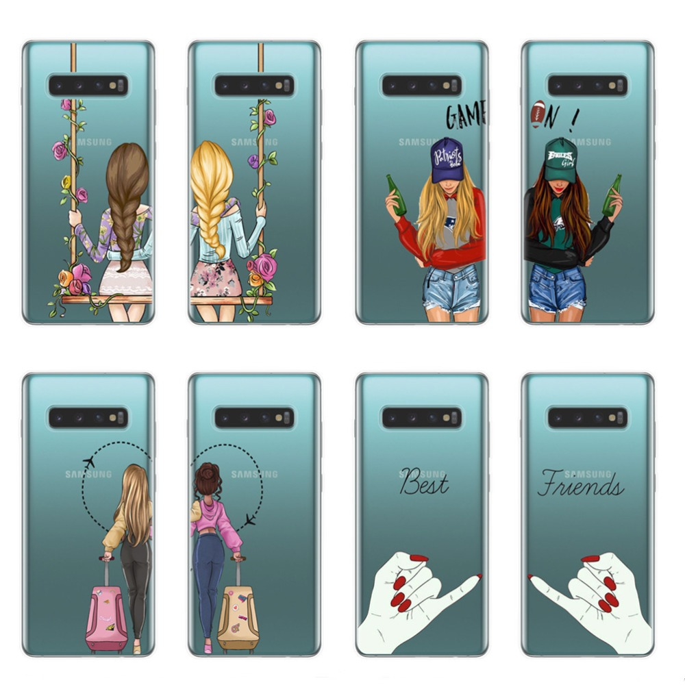 We will always be best friend <font><b>BFF</b></font> soft silicon TPU <font><b>Phone</b></font> <font><b>Cases</b></font> Cover For Samsung S6 S7 Edge S8 S9 S10 Plus Lite 5G S10E Note 8 9 image