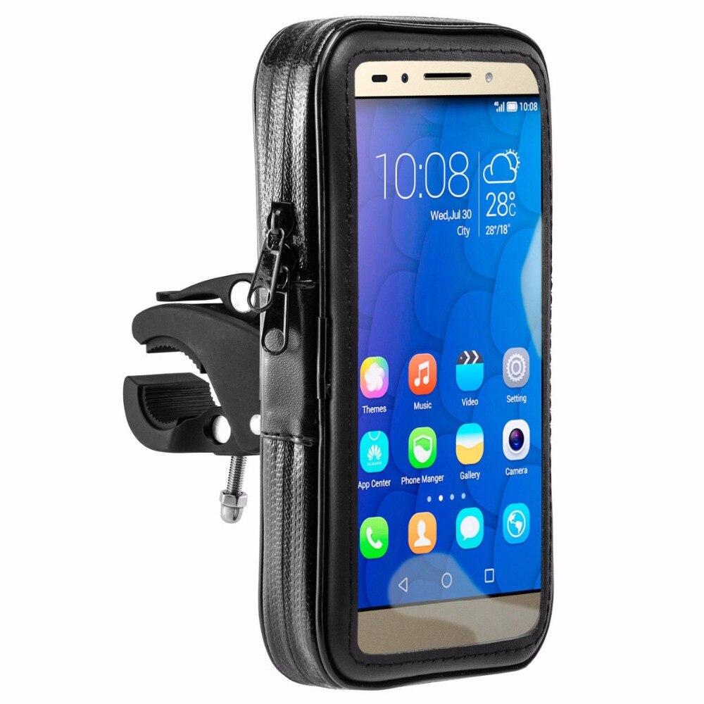 imágenes para Bicicleta de Motor P9 Bolsa Impermeable Del Sostenedor Del Caso Para Huawei Honor 4X 4A 5X6 Más 7i 5 Teléfono de 5.7 Pulgadas Bicicleta de La Motocicleta Bolsa casos