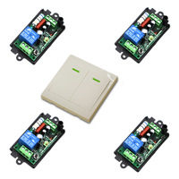Free Shipping AC110V 220V 1CH Remote Switch Receiver Wall Transmitter Wireless Power Switch Radio Controlled Switch Relay
